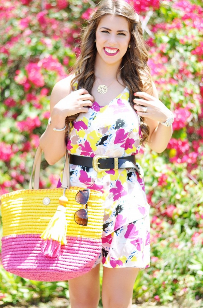 the brightest blooms, pink and yellow dress, floral spring dress, tory burch beach bag, tory burch tote, pink swing dress, yellow spring dress, floral fashion, spring outfit inspo, spring outfit ideas, here's the skinny, heres the skinny, here's-the-skinny, heres-the-skinny, the skinny blog, the skinny by bailey schwartz, bailey schwartz blog, charlotte fashion blogger, charlotte nc fashion blogger, charlotte blogger