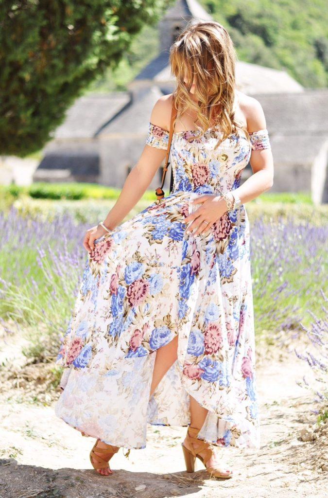 lavender fields of senanque abbey, senanque abbey, lavender fields, floral lavender maxi, floral maxi dress, maxi dress, jetset diaries maxi dress, provence france, travel to provence france, visit the senanque abbey, lavender fields, chloe purse, #htstravel, visit senanque abbey, summer fashion, summer outfit ideas, south of france travel, summer outfit inspo, here's the skinny, heres-the-skinny, heres the skinny, the skinny blog, here's the skinny by bailey schwartz, bailey schwartz blog, charlotte nc fashion blogger, charlotte fashion blogger, charlotte nc blogger