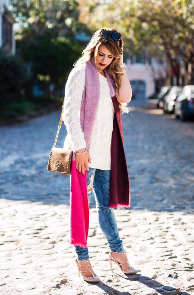 Cozy Pink Scarf Daily With Bailey
