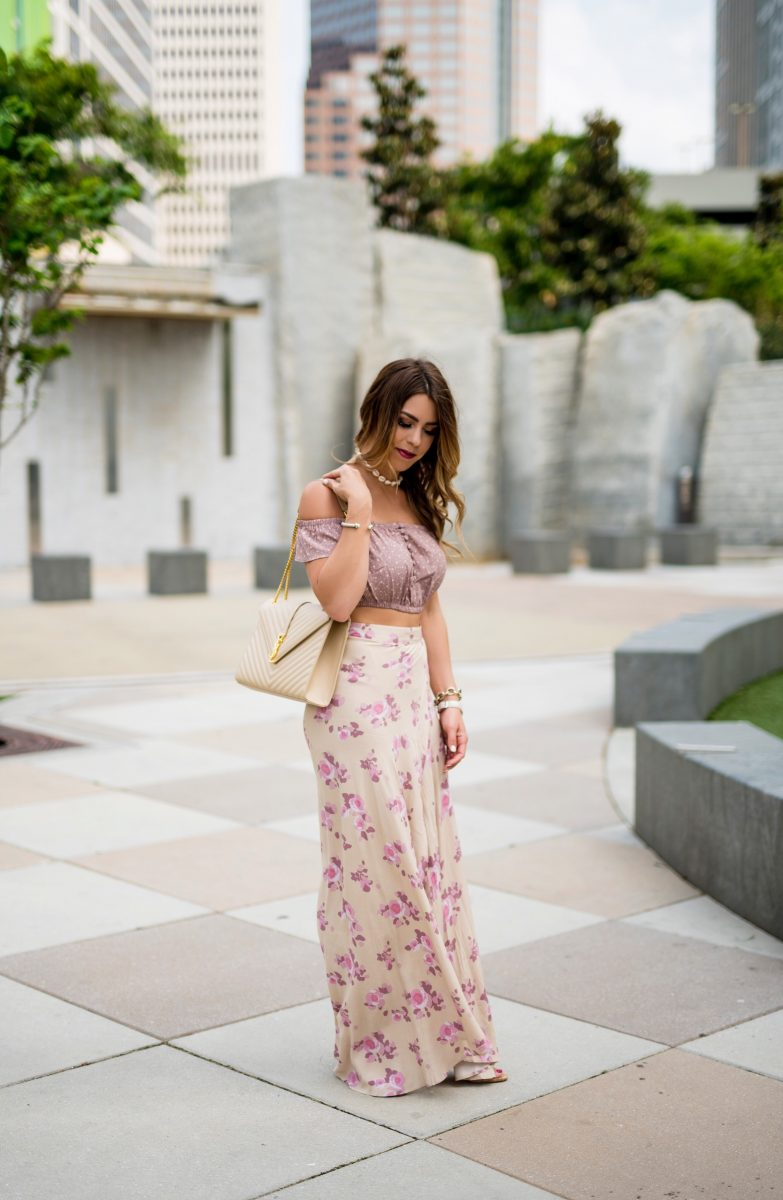 boho + mauve two piece set crop top and skirt privacy please boho set two piece boho outfit boho style mauve and cream skirt spring fashion spring outfit spring style