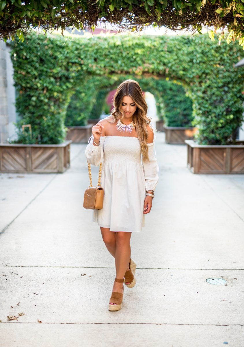 white after labor day best of labor day sales best sales to shop on labor day white off the shoulder dress tory burch purse summer fashion summer outfit inspo fall fashion fall outfit ideas little white dresses best sales for labor day white after labor day can i wear white after labor day
