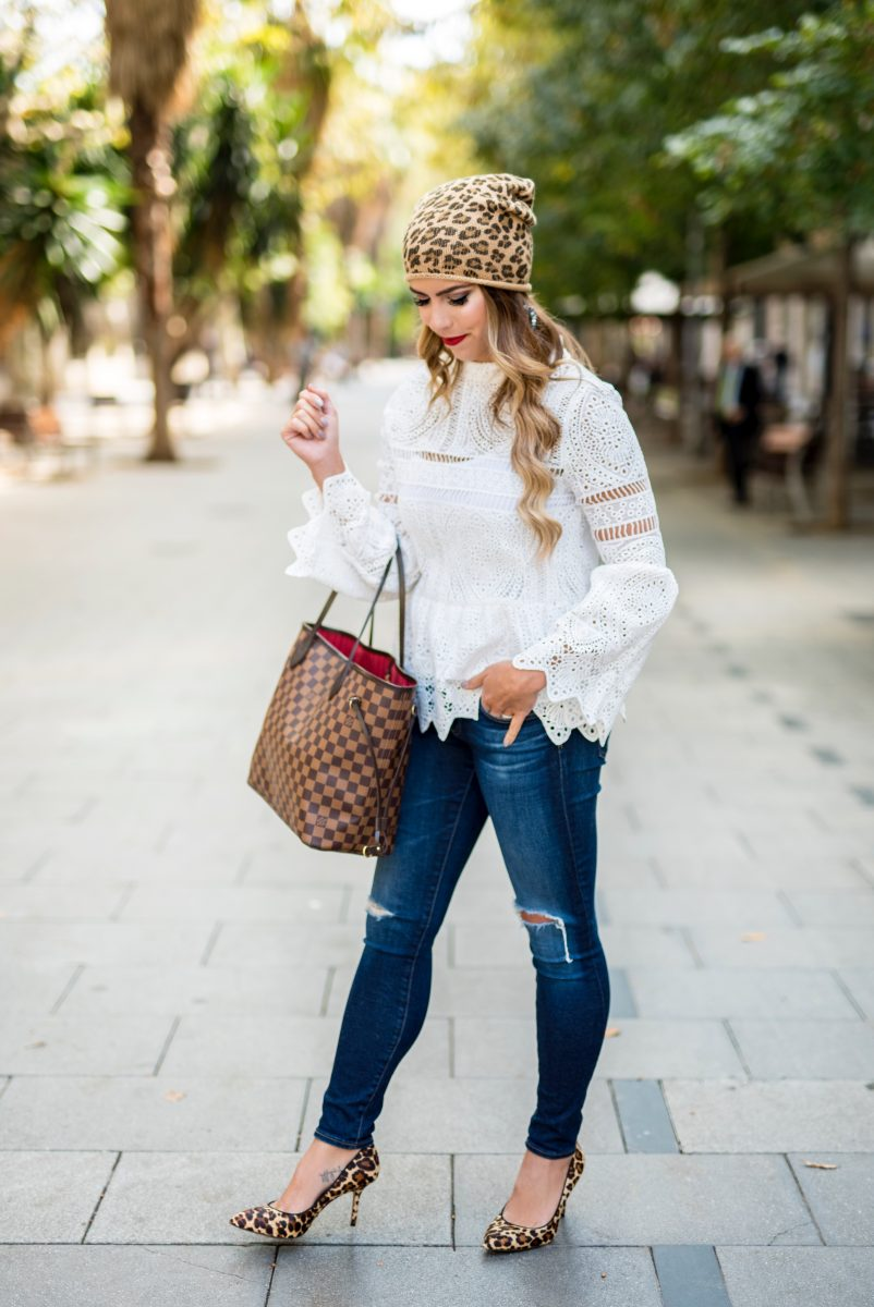 my fall bucket list bucket list for couples fall bucket list 2017 fall bucket list template fall bucket list for families lace top and jeans leopard beanie leopard hat lace top white lace top long sleeve distressed jeans