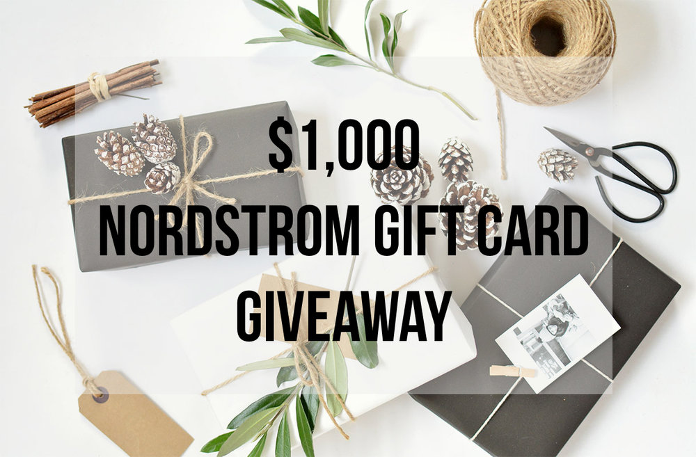 nordstrom giveaway win a nordstrom giftcard win $1000 to nordstrom for the holidays
