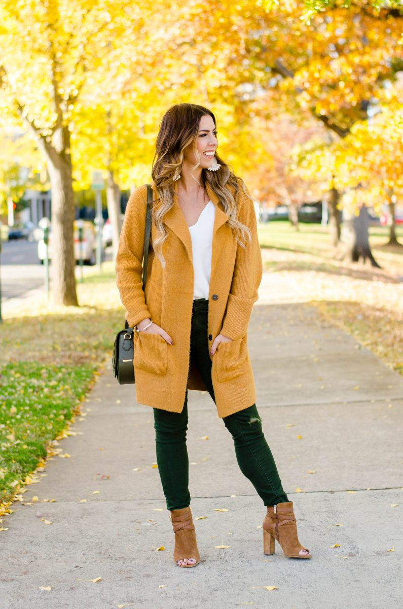 the coatigan how to style a coatigan coat cardigan camel cardigan camel blazer camel cardigan blazer olive jeans green jeans gigi new york jenni saddle bag olive green purse camel and olive green fall outfit fall fashion fashion blogger fall outfits