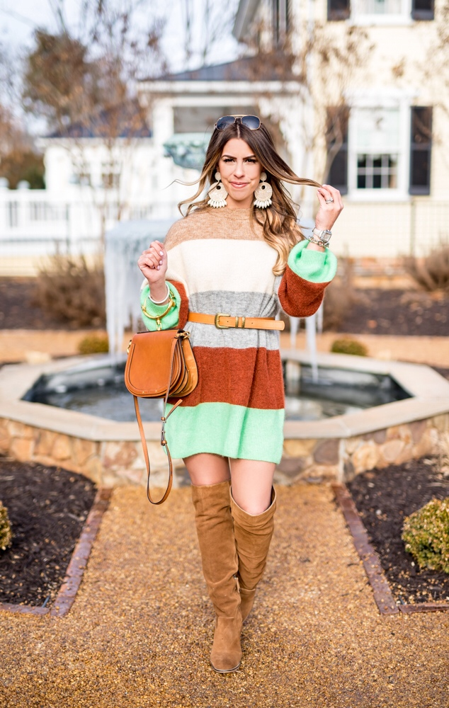 spring sweater dress striped sweater dress hm sweater dress spring fashion spring style green sweater dress the best sweater dresses chloe purse spring outfit inspiration the inn at willow grove virginia