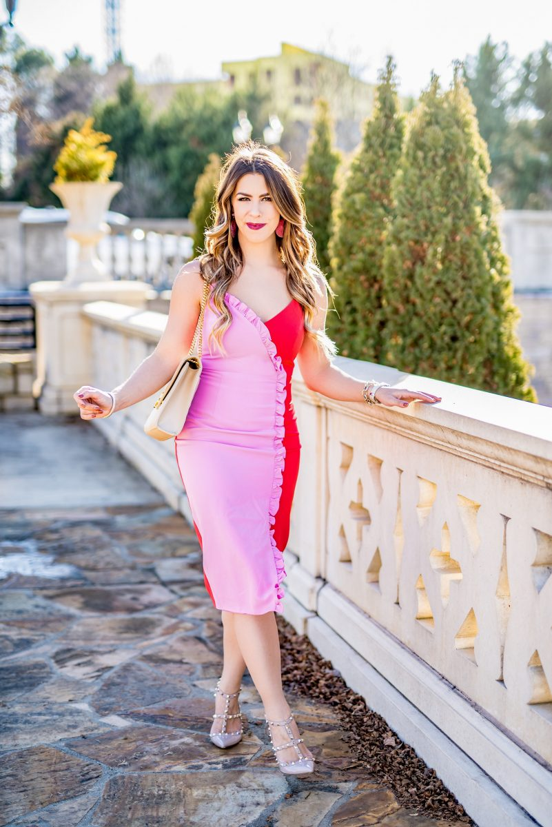 my valentine's day dress the perfect dress for valentine's day what to wear on a valentine's day date night valentine's date night dress red and pink dress spring dress spring outfit spring fashion