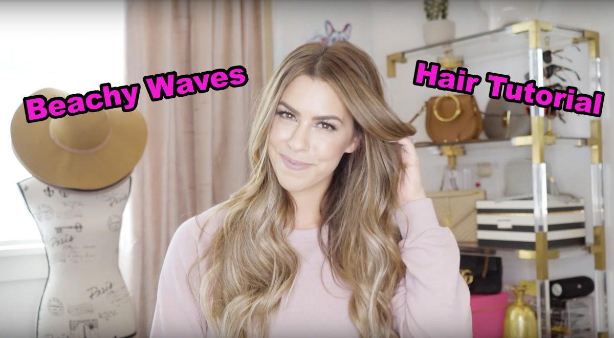 how I curl my hair beachy waves hair tutorial video beauty tutorial how to create beachy waves hair tutorial