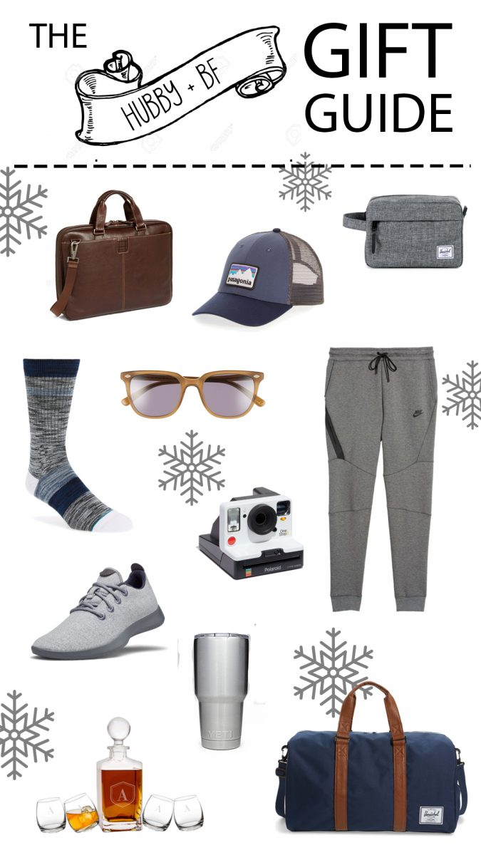 the gift guide for him gift guide for hubby what to buy for your boyfriend best holiday gifts for husband boyfriend fiancé best gifts for him 2018 Christmas gifts for him 2018