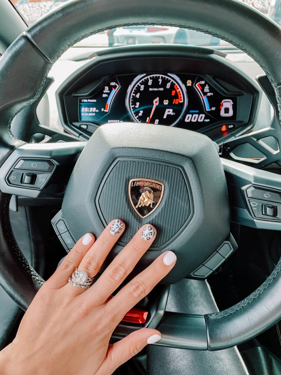 leopard nails ferrari wheel