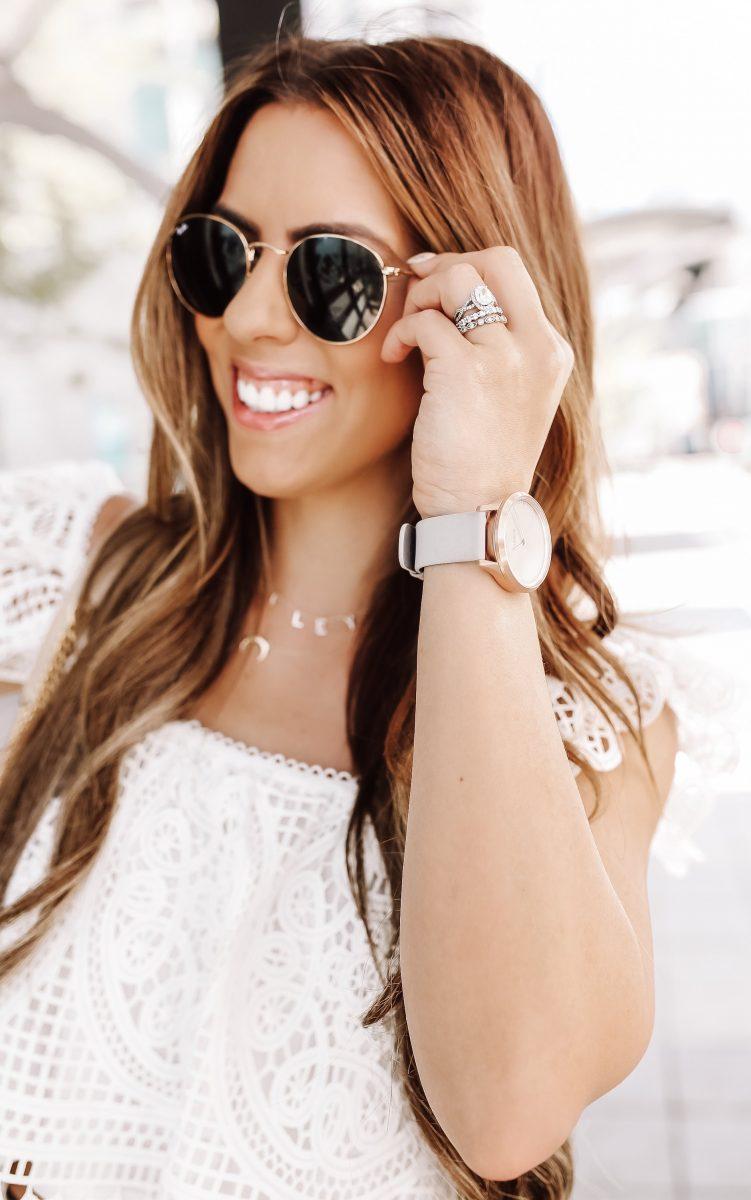 rayban sunglasses and Garmin watch