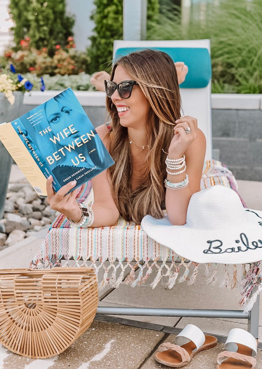 vacation look by the pool victoria emerson wrap bracelet