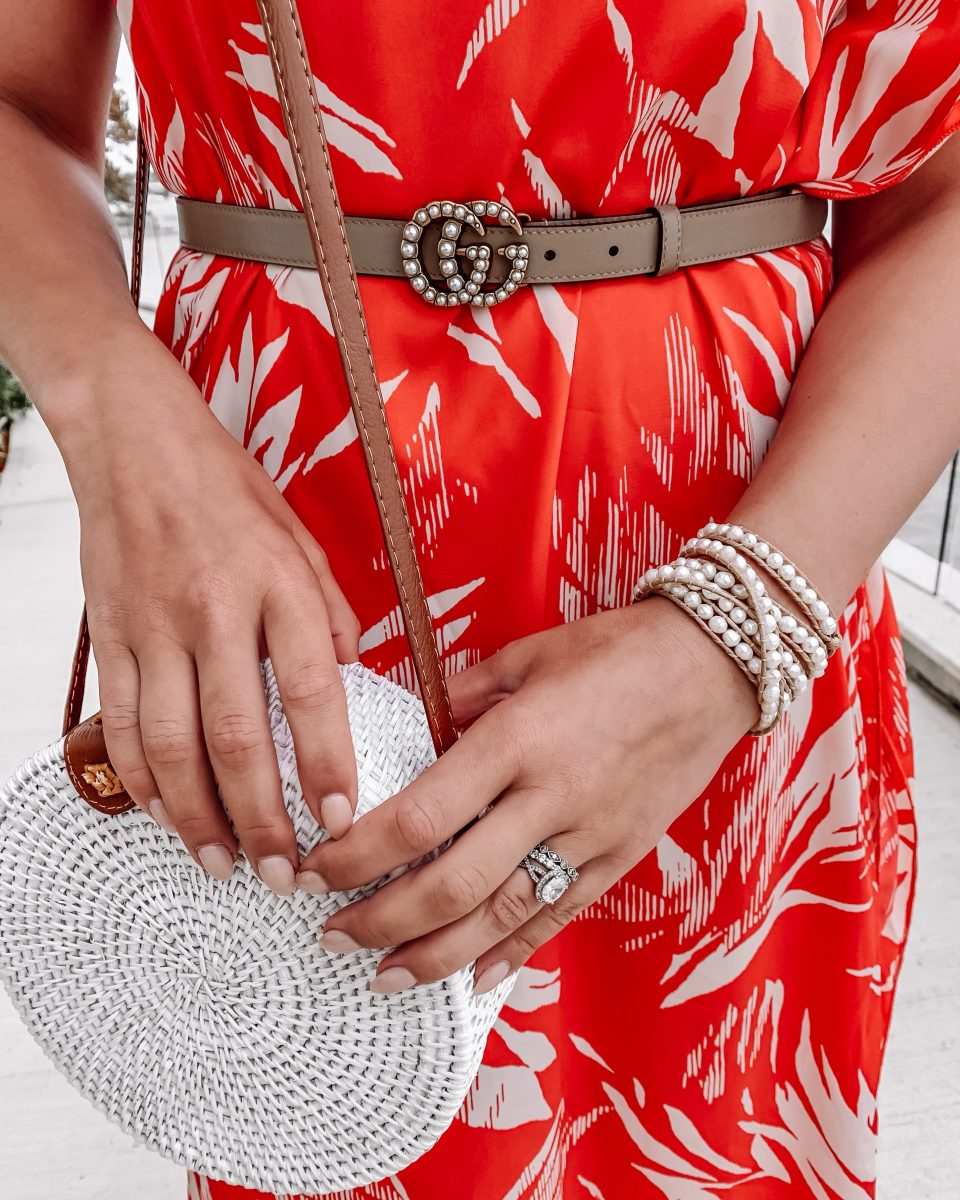 red maxi dress shop the mint maxi dress victoria emerson wrap bracelet vacation style vacation outfit