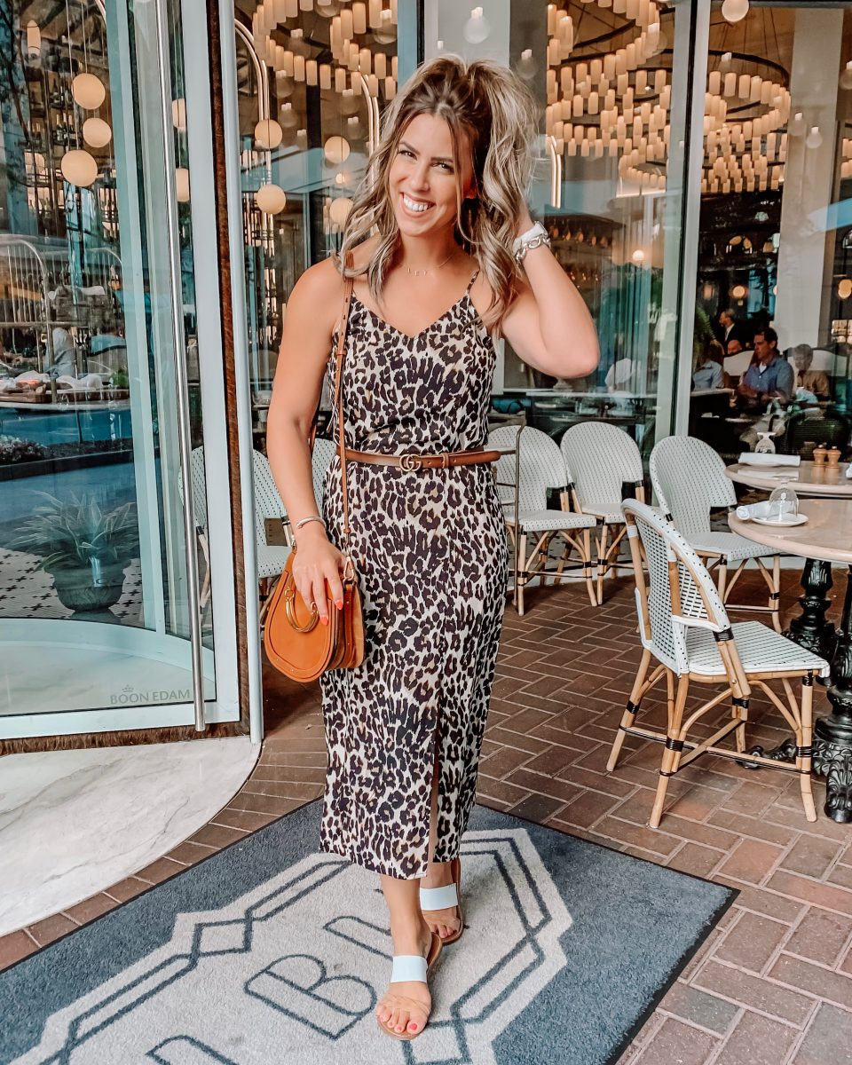 Nordstrom anniversary sale 2019 bp leopard midi dress