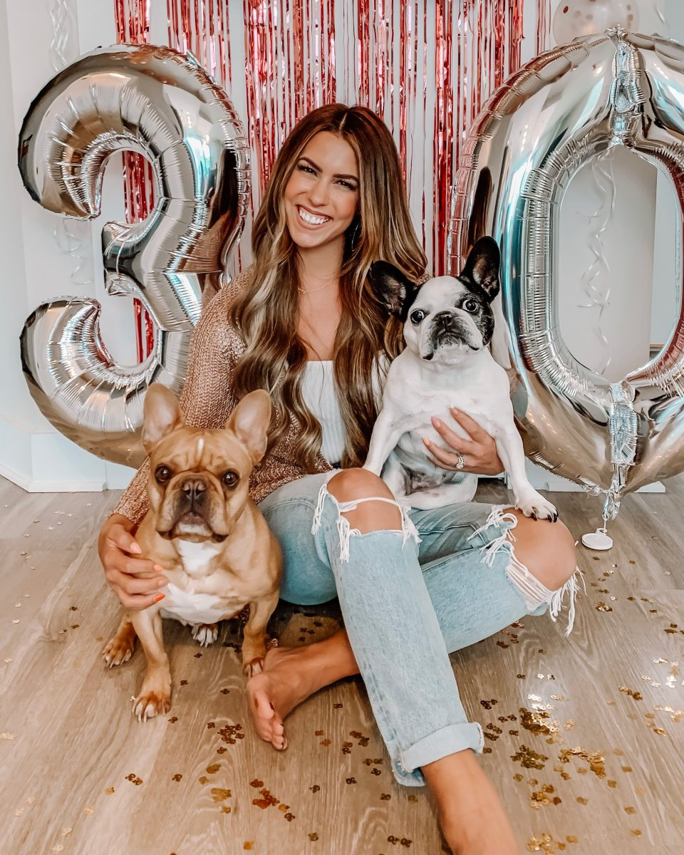 30 things you should do before 30 birthday post 30th birthday photos talk 30 to me banner 30 birthday balloons French bulldogs