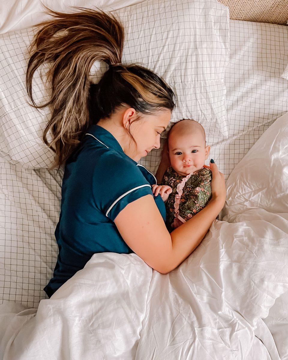 sleep training taking carababies baby snuggling baby sleep